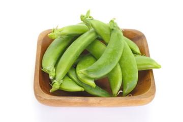 Fresh garden pea isolate on white background