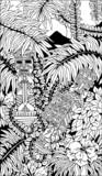 Aztec Totems Doodle Art poster