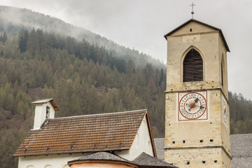 Tower of church of St. John in Mustair, UNESCO World Cultural He