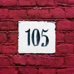 house number 105