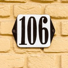 house number 106