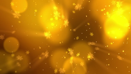 Christmas Snowflakes 01 - Gold