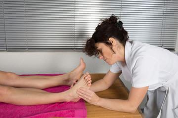 Drainage lymphatique pieds et jambes