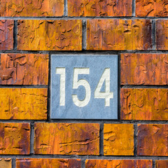 house number 154