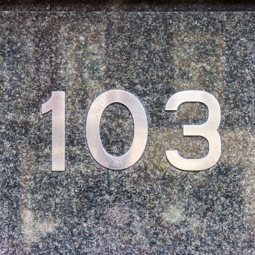 Poster house number 103