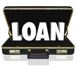 Business Loan 3d Word Briefcase Borrow Start Up Funding