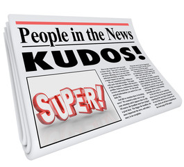 People in News Announcement Super Newspaper Message Praise