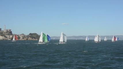 Sailboats in the San Francisco Bay, California