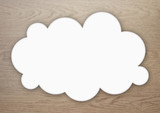 雲 ふきだし 背景