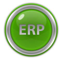 ERP circular icon on white background