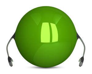 Green sphere character