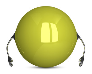 Yellow sphere character