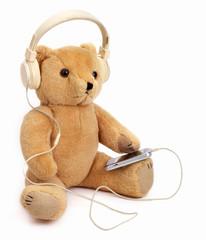 Teddy Bear listening audiobook or music