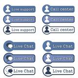 Website Element Live Support Concept.