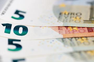 The macro european money in the bills