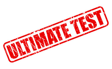 Ultimate test red stamp text