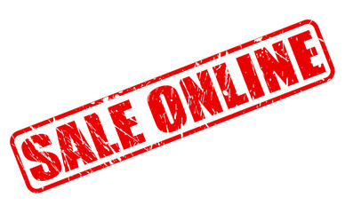 Sale online red stamp text