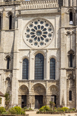 Front of Cathedral of Our Lady of Chartres