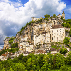 Rocamadour - beautiful french village and castles on cliff