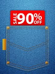 sale ninety percentage off
