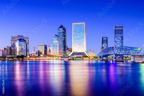 Jacksonville, Floryda, USA Skyline w St Johns River