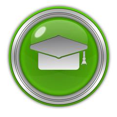 Graduation circular icon on white background