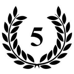 Lauriers 5 sur fond blanc