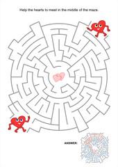 Valentine maze