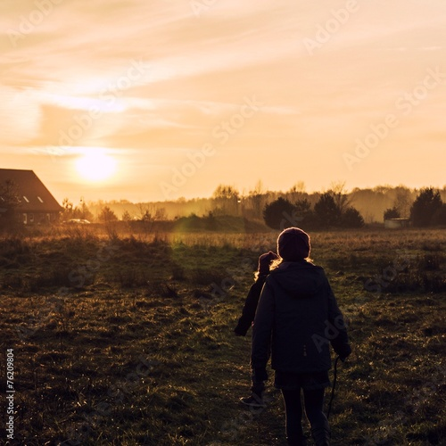 canvas print picture wandern