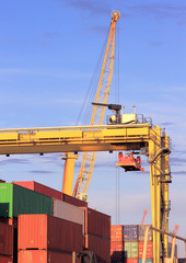 Cranes and containers for export