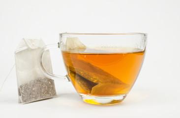 Glas heisser Tee (Beutel)