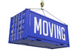 Moving - Royal Blue Hanging Cargo Container. - 76210889