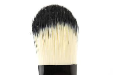 make up brush powder blusher on white background