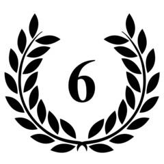 Lauriers 6 sur fond blanc