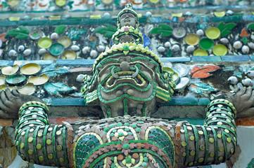 Close up details of statue taken in Bangkok