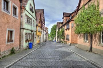 Street in Rothenburg ob der Tauber, Germany