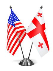 USA and Georgia - Miniature Flags.