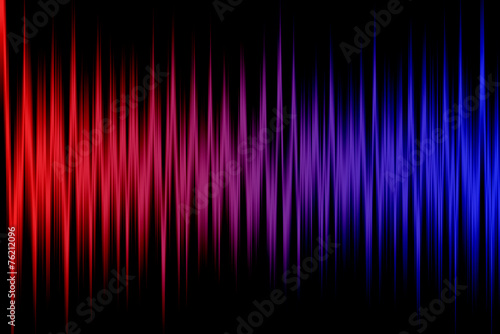 Illustration with colored stripes. Frequency of color. - 76212096
