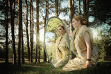 Fototapety concept wonderful fairy tale with beautiful girl in country of m