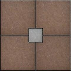 Brown and Gray Brick Pavers. Seamless Texture.