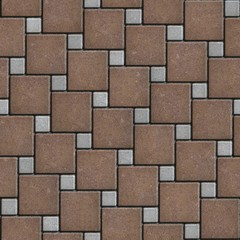 Brown and Gray Pavement Square Shape. Seamless Texture.