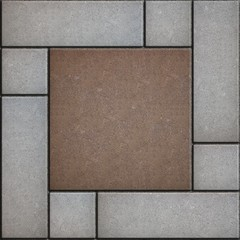 Gray and Brown Pavement. Seamless Texture.