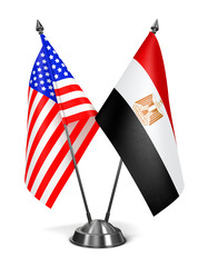 USA and Egypt - Miniature Flags.