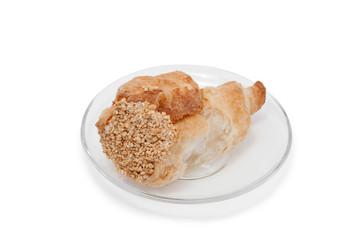 Cake tubule on plate