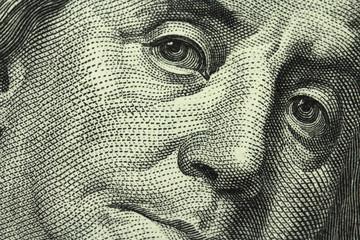 banknote hundred dollars close-up