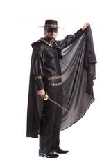 Zorro film on white background