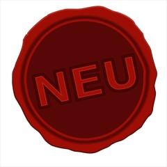 rotes Siegel aus Wachs NEU