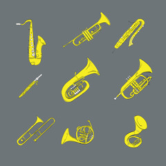 instrument music painting musical saxophone