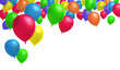 canvas print picture - Gruppe bunter Luftballons