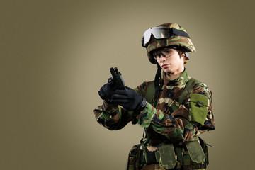 NATO soldier.